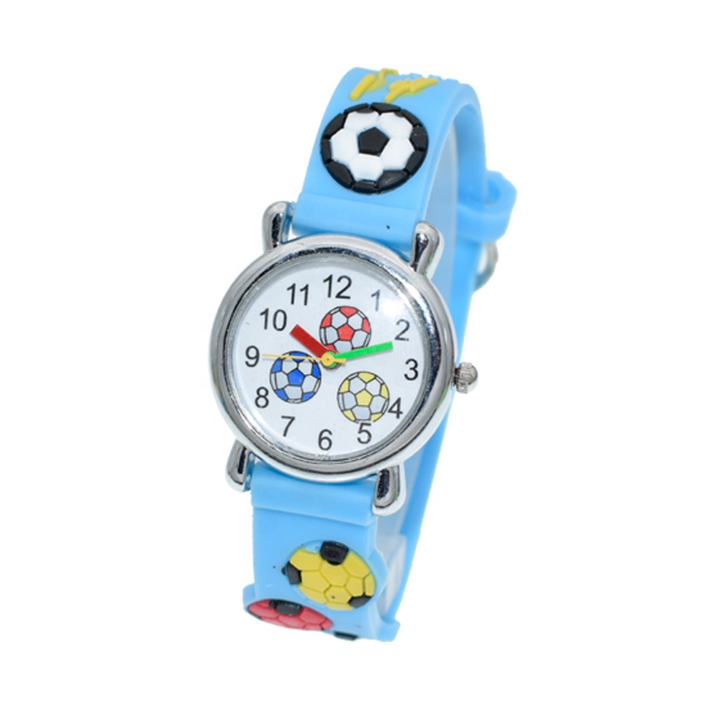 cute football design 6 years old kids watches boys for best promotional gifts