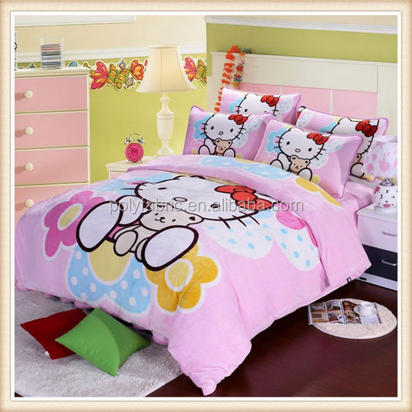 Hot Sale 100 Polyester Fabric Painting Designs Bed Sheets