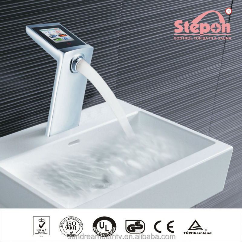 Water TEMP Flow Adjust Kitchen Sink Faucets