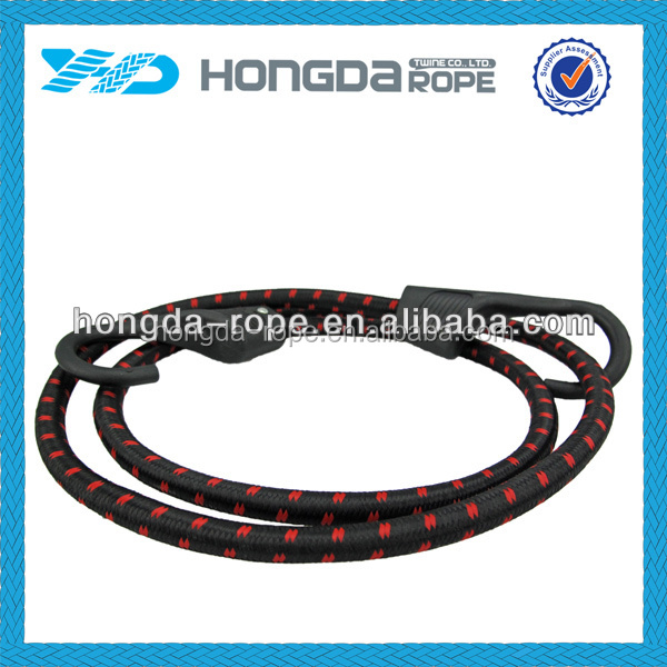elastic cord with buckle for chairs shock rubber cord plastic hook bungee cord