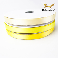 New 100 Yds 1 Inch 25mm 100% Polyester Yellow Color Satin Ribbon