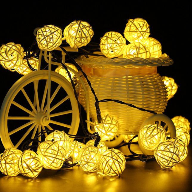 outdoor Diwali solar string lights for christmas decoration