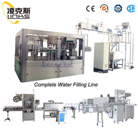 High quality mineral water 3 in 1 filling machine/pure water bottling plant