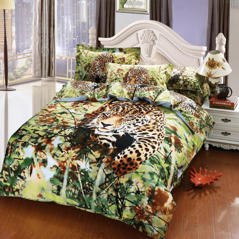 popular cheetah print comforter set buy cheap cheetah print comforter set lots from china. Black Bedroom Furniture Sets. Home Design Ideas