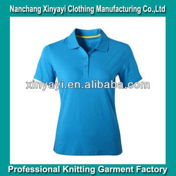 498e8ed11 Light blue color solid polo shirt/short sleeve women polo shirt/plain women  polo