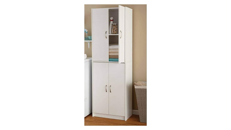 All NewMainstays Mainstays 4-Shelf Multipurpose Storage Cabinet- White