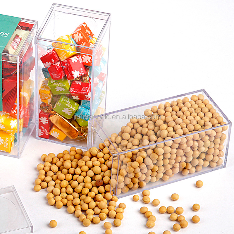 High quality clear acrylic/polycarbonate/PMMA candy box food container box