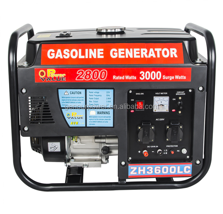 Portable 3KW Natural Gas Generator for Home Appliance