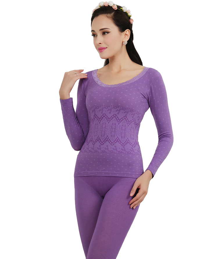 3410b63bead Get Quotations · Thermal Underwear Sets Women 2015 New Winter Antibiosis Warm  Long Johns Underwears Top + Pant Sexy