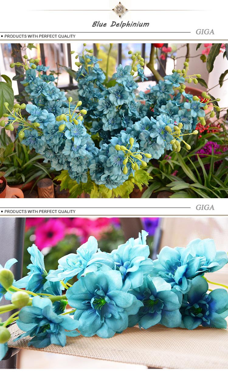 Import China Artificial Delphinium Ajaacis Silk Flowers Buy Silk