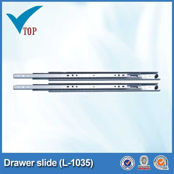 single extension locking drawer self closing slide