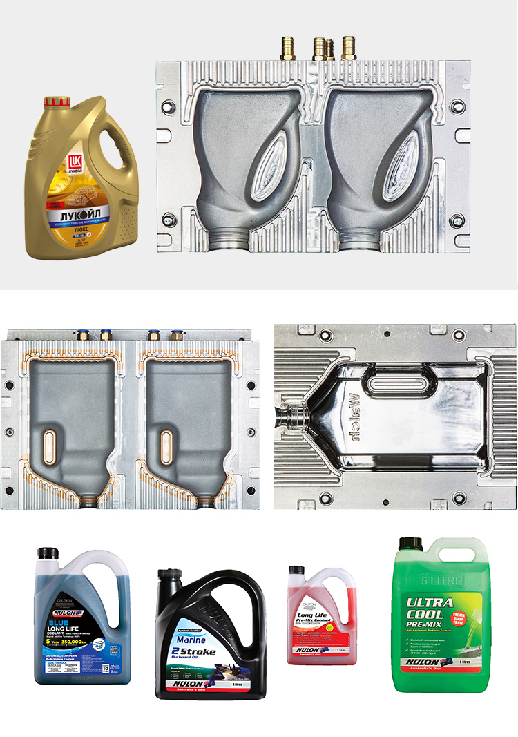 accept custom 4/6 cavities inject mould pe  bottle  mould