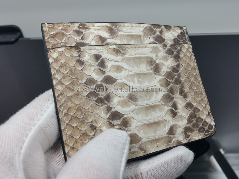 Custom python purse viya jewelry wallet Blocking Genuine Python Leather Wallet With box Packaging