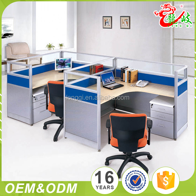 Modern style fashion glass top screen call center office cubicle modular office funiture computer workstation partitions