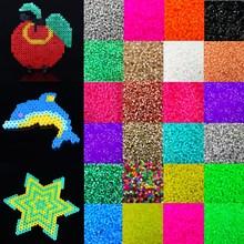 Fashion 1000pcs Candy Color 5mm Plastic Hama Perler Beads For Educate font b Kids b font