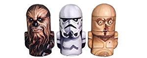 New Star Wars Head Shape Coin Bank Tin x 3 (Chewbacca, Stormtrooper, C-3PO))