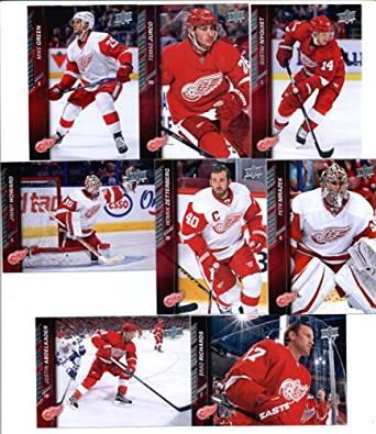 2015-16 Upper Deck Detroit Red Wings Hockey Master Team Set of 15 Cards: Danny DeKeyser(#63), Darren Helm(#64), Riley Sheahan(#65), Jonathan Ericsson(#66), Niklas Kronwall(#67), Pavel Datsyuk(#68), Tomas Tatar(#69), Henrik Zetterberg(#317), Justin Abdelkader(#318), Petr Mrazek(#319), Mike