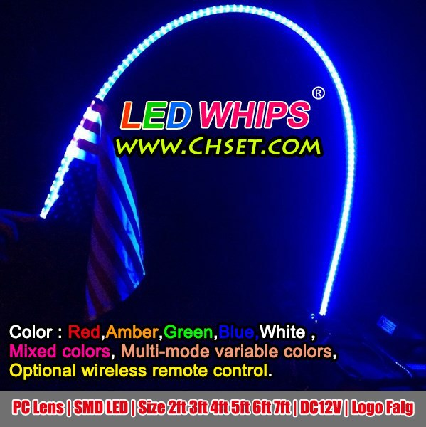 New Popular Led Whip Antennas Led Warning Atv Whip Led
