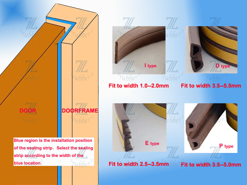 6.5*8mm epdm white D type wooden door rubber seal ,rubber door seal ...