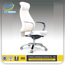 popular high ang full leather office chair without wheels