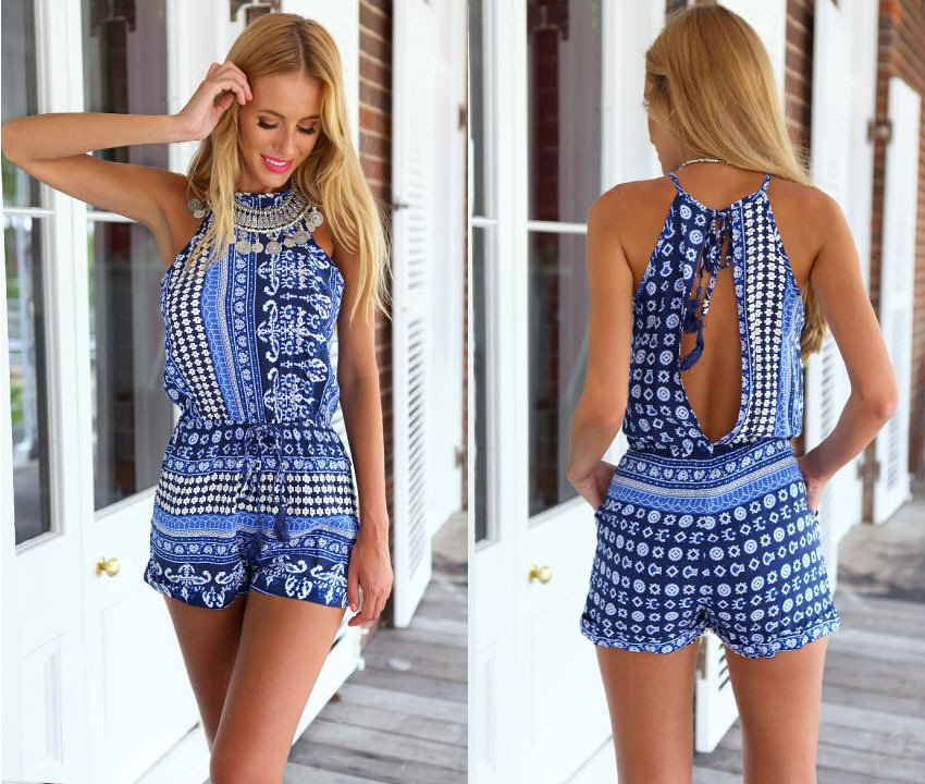 New Arrival Summer Sexy Slimming Sleeveless Romper