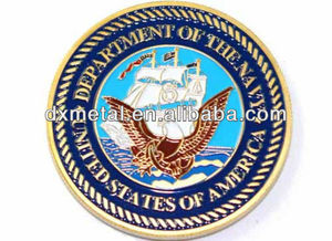 us navy eagle emblem euro coin