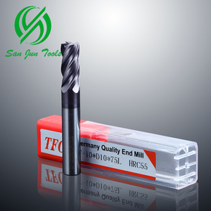 55HRC Hot Sale Solid Carbide Milling Cutter 4Flute Variable Helix Sharp End Mill