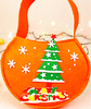 New 2018 products Merry Christmas ornaments polyester felt nonwovens collapsible storage gift tree decoration shopping bag