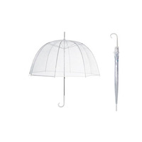 23''8ribs waterproof transparent plastic folding umbrella