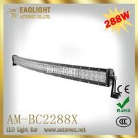 Super slim waterproof 50 inch 288W IP 67 Black wholesale car led light bar