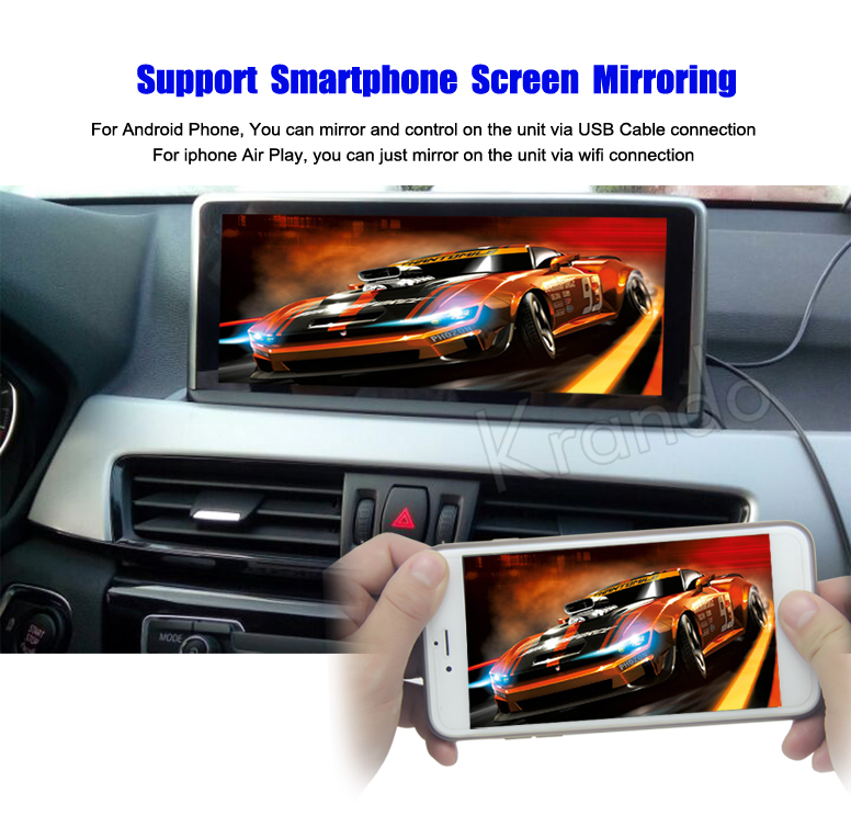 Krando 10.25'' android car radio multimedia for bmw X1 F48 2016 2017 Big screen navigation with gps system
