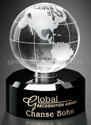 K9 Crystal ball with world map,crystal black paperweight MH-Q0024