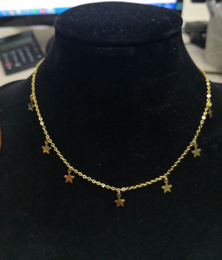 Hot Selling Brass Simple Star Heart Necklace For Women