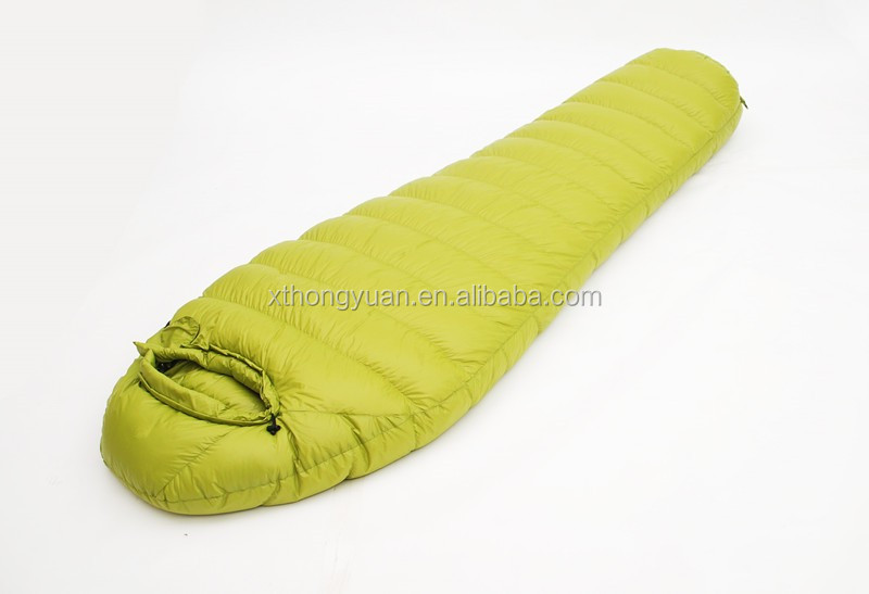 Duck Down Sleeping Bag Military For Cold Weather Winter Camping Quilt