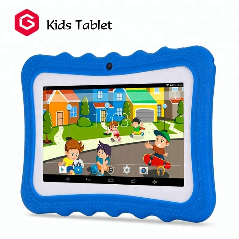 2018 New 7 inch children educational learning android kids <strong>tablet</strong> with silicon case stand