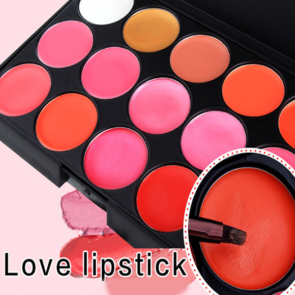 Customize Private Label Lipstick matte liquid lipstick15 color lip gloss palette