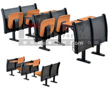 Wholesale Step Wood Audience Auditorium Chair with Table for Theater/Church/School