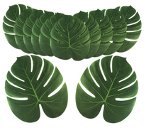 Artificial Leaf Simulation Leaf for Hawaiian Luau Theme Party Decorations Tropical Party Plam Leaves HawaiianTable Decoration