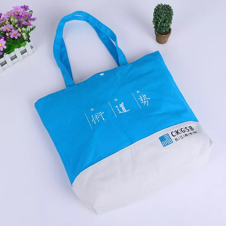 Factory custom Colorful Design knitting Foldable Cotton Tote bag