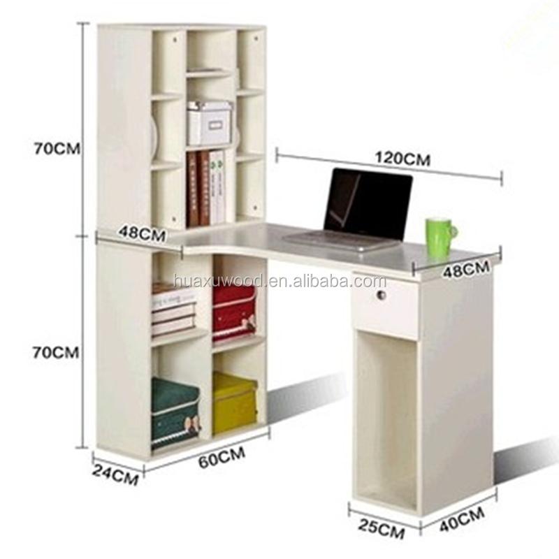 Wooden Computer Desk With Bookshelf Wooden Computer Desk With