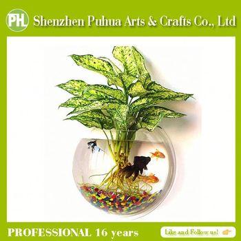 China Acrylic Cheap Glass Fish Bowl Vasefish Bowl Wall Mount Buy