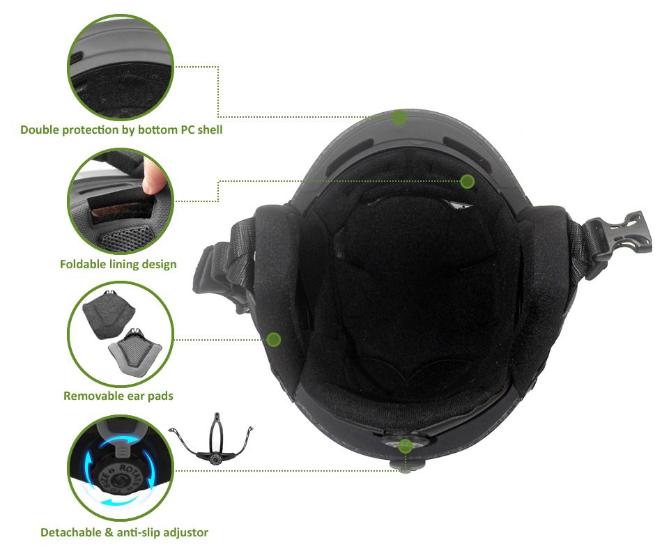 Unisex Adult Alpine Skiing Helmet 18