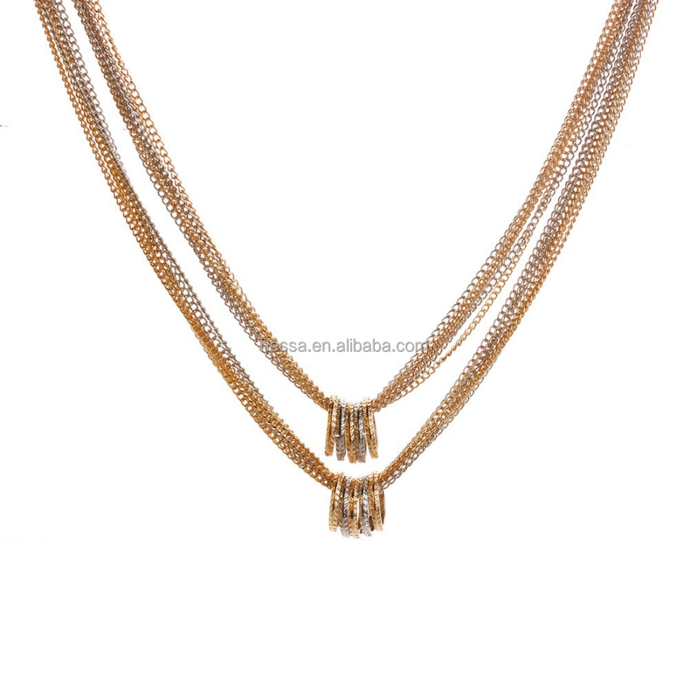 fashion 18kgp chain necklace with ring wholesale N2937
