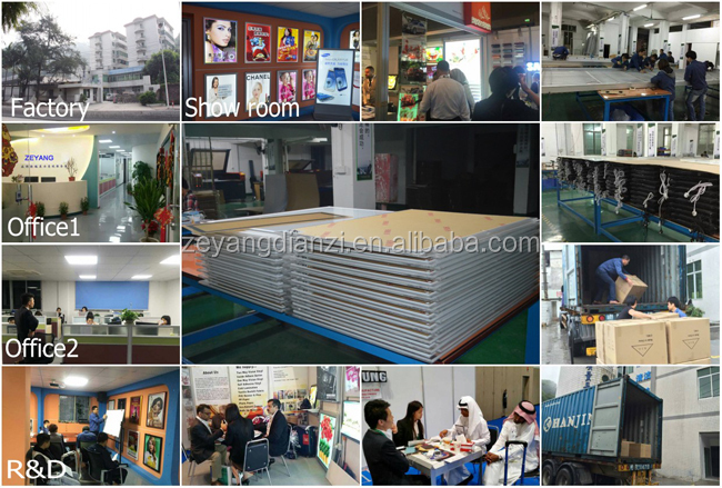 2017 New Cable Real Estate Led Display/Led Light Poster Frames/Led Sign Board