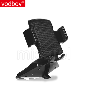 vodbov CD slot phone mount Universal Car Cradle Mount with Three-Side Grips and One-Touch Design For mobile phone