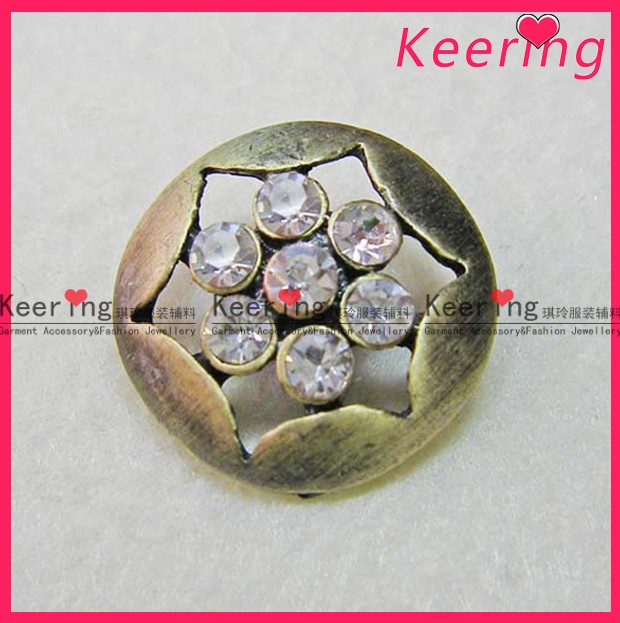 Metal Button with rhinestone for garments WBK-262