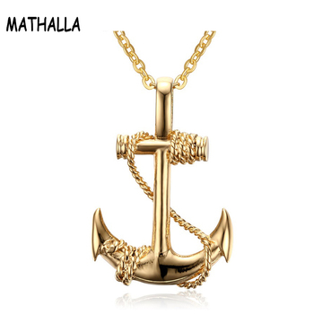 Latest Design Saudi Gold Jewelry Men S Anchor Charm Stainless