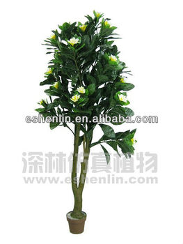 High Imitation Looks Real Artificial Plumeria TreeFake Plants And
