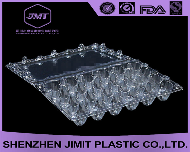 Cheapest plastic clear quail egg packaging box 24 cavities