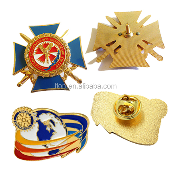 Wholesale Custom Gold Metal Rotary Enamel Lapel Pins